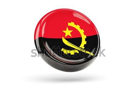 икона флаг Ангола изолированный белый путешествия Сток-фото © MikhailMishchenko