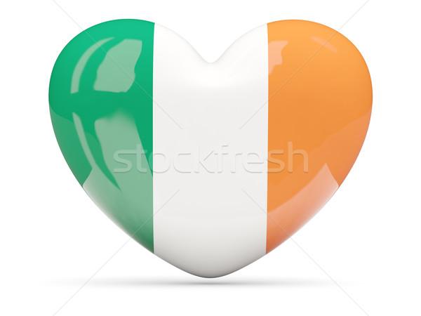 Hart icon vlag Ierland geïsoleerd Stockfoto © MikhailMishchenko