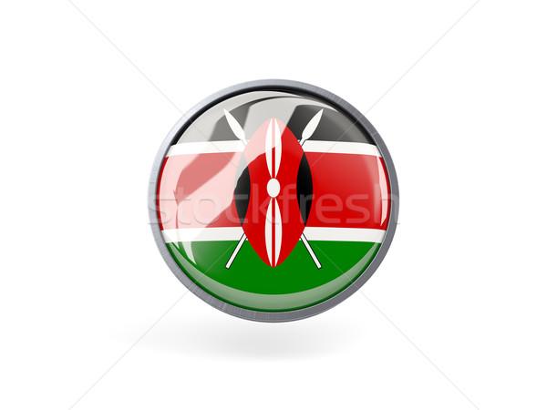 Icon vlag Kenia metaal frame reizen Stockfoto © MikhailMishchenko