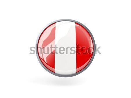 Icon vlag Peru metaal frame reizen Stockfoto © MikhailMishchenko