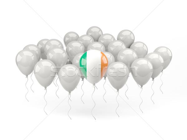 Lucht ballonnen vlag Ierland geïsoleerd witte Stockfoto © MikhailMishchenko