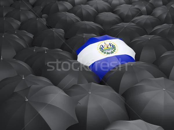 Umbrella with flag of el salvador Stock photo © MikhailMishchenko