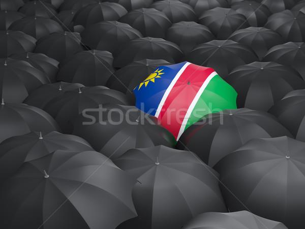 зонтик флаг Намибия черный дождь Сток-фото © MikhailMishchenko
