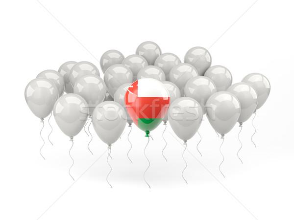 Hava balonlar bayrak Umman yalıtılmış beyaz Stok fotoğraf © MikhailMishchenko