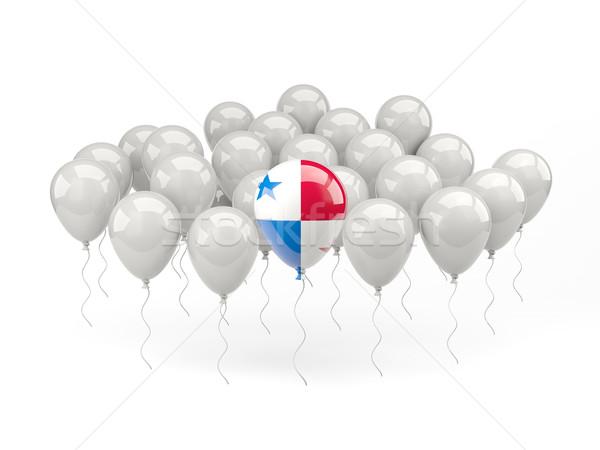 Powietrza balony banderą Panama odizolowany biały Zdjęcia stock © MikhailMishchenko