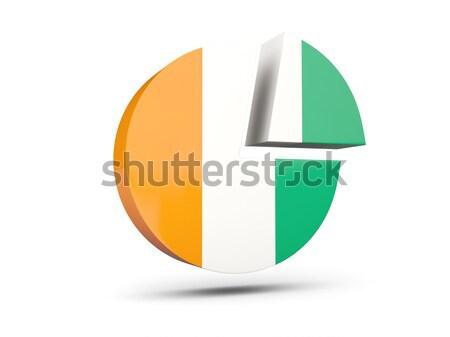 Round sticker with flag of cote d Ivoire Stock photo © MikhailMishchenko