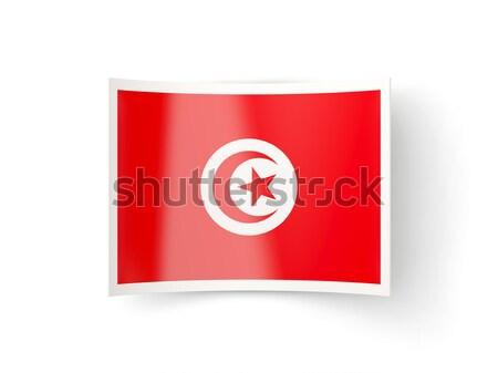 Square icon with flag of tunisia Stock photo © MikhailMishchenko