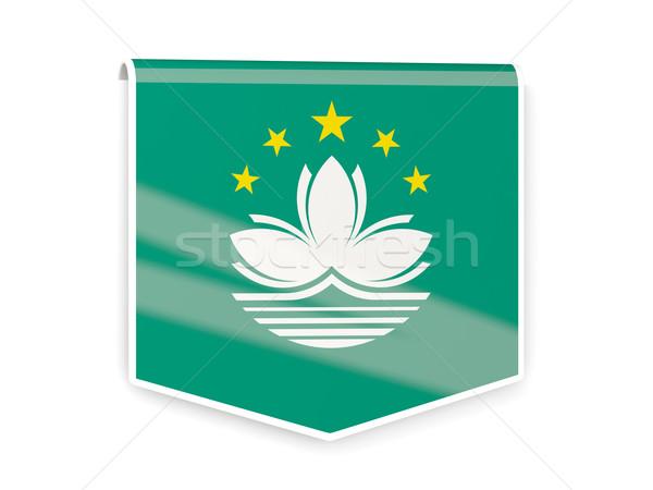 Flag label of macao Stock photo © MikhailMishchenko