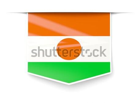 Bandiera etichetta Niger isolato bianco mondo Foto d'archivio © MikhailMishchenko