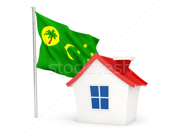 House with flag of cocos islands Stock photo © MikhailMishchenko