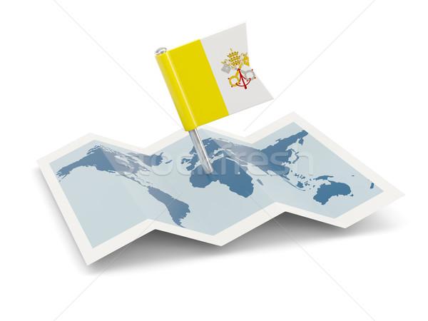 Térkép zászló Vatikán izolált fehér Stock fotó © MikhailMishchenko