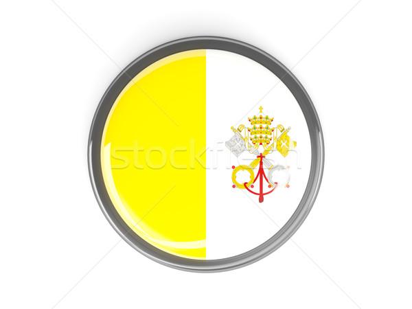 Przycisk banderą Watykan metal ramki podróży Zdjęcia stock © MikhailMishchenko