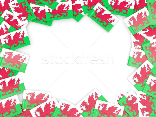 Frame vlag wales geïsoleerd witte Stockfoto © MikhailMishchenko