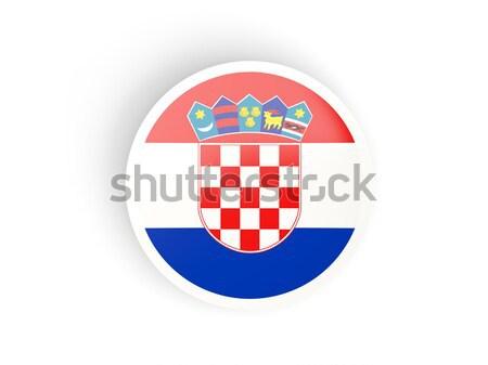Ikon bayrak Hırvatistan parlak imzalamak beyaz Stok fotoğraf © MikhailMishchenko