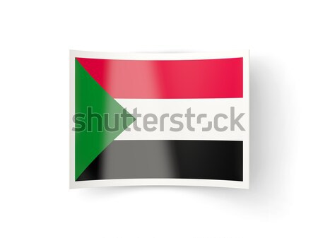 Bent icon with flag of sudan Stock photo © MikhailMishchenko