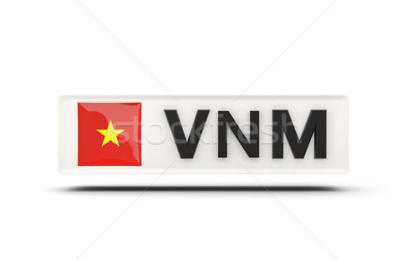 квадратный икона флаг Вьетнам iso Код Сток-фото © MikhailMishchenko