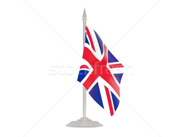 Bandera Reino Unido asta de bandera 3d aislado blanco Foto stock © MikhailMishchenko