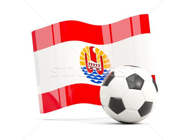 Stok fotoğraf: Futbol · bayrak · fransız · polinezya · yalıtılmış