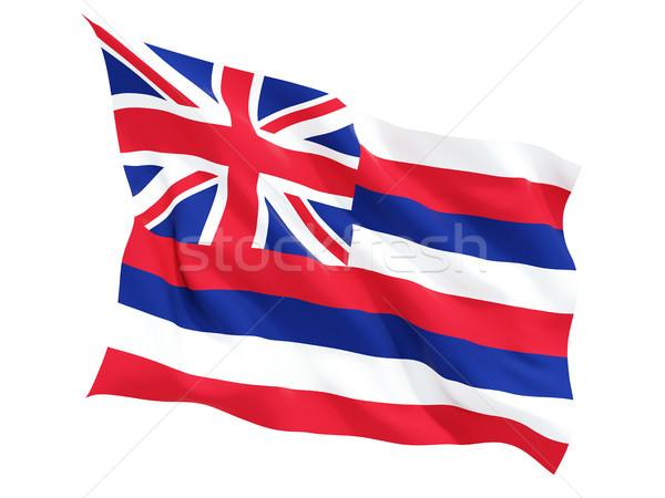Flag of hawaii, US state fluttering flag Stock photo © MikhailMishchenko