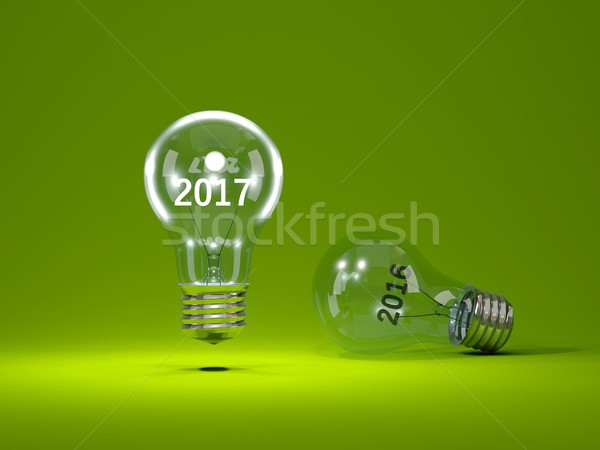 Stockfoto: Nieuwjaar · teken · binnenkant · 3d · illustration · licht