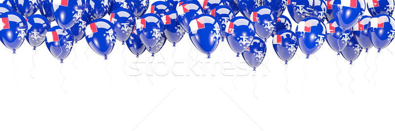 Balloons frame with flag of french southern territories Stock photo © MikhailMishchenko