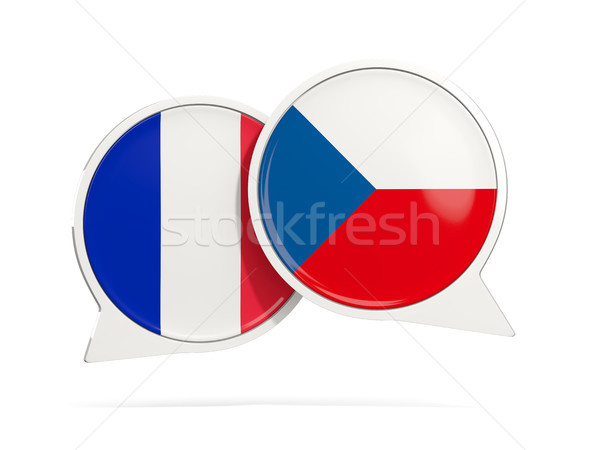 чате пузырьки Франция Чешская республика изолированный белый Сток-фото © MikhailMishchenko
