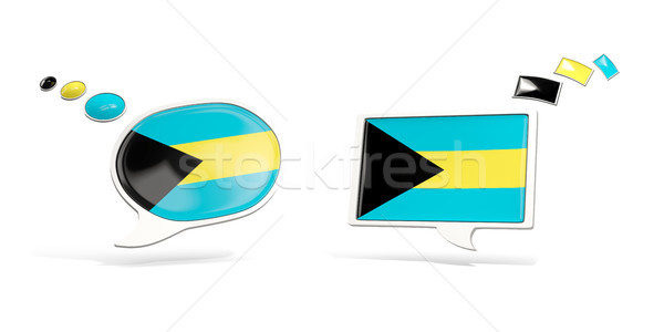 Two chat icons with flag of bahamas Stock photo © MikhailMishchenko