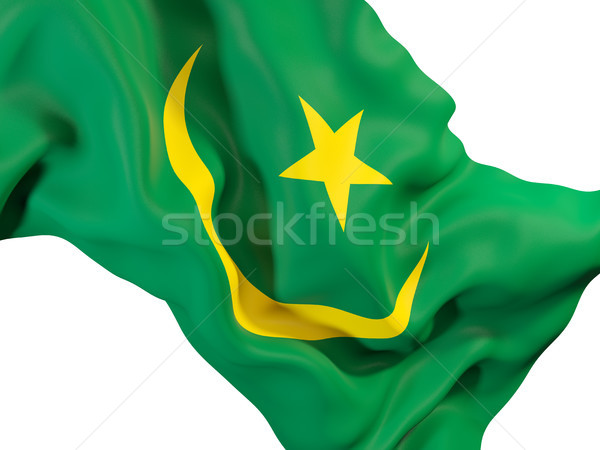 Waving flag of mauritania Stock photo © MikhailMishchenko