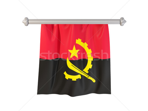 Pennant with flag of angola Stock photo © MikhailMishchenko