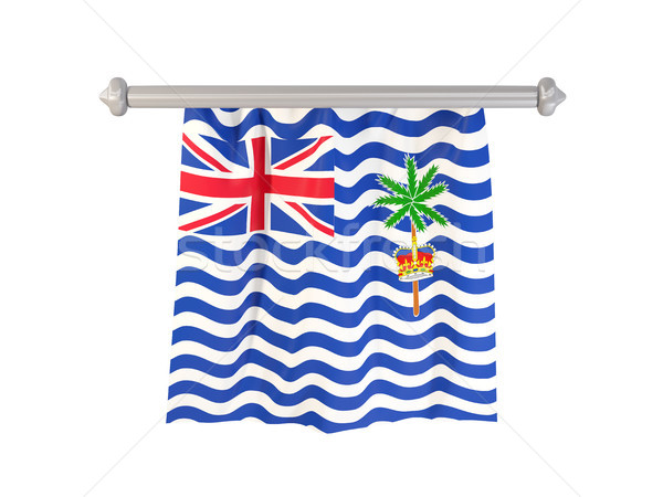 Pennant with flag of british indian ocean territory Stock photo © MikhailMishchenko