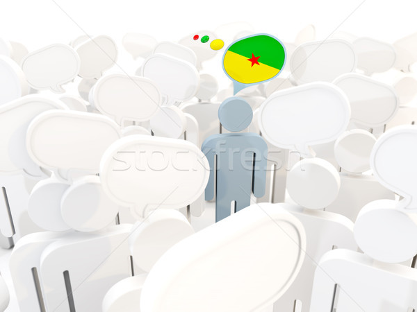 Man with flag of french guiana in a crowd Stock photo © MikhailMishchenko