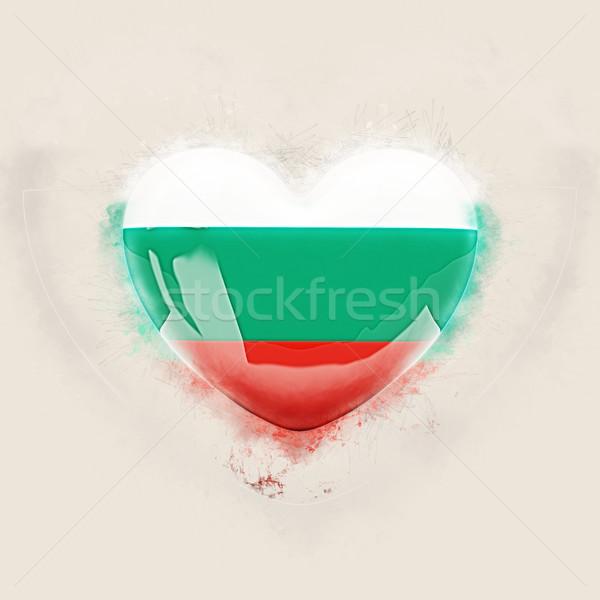 Szív zászló Bulgária grunge 3d illusztráció szeretet Stock fotó © MikhailMishchenko