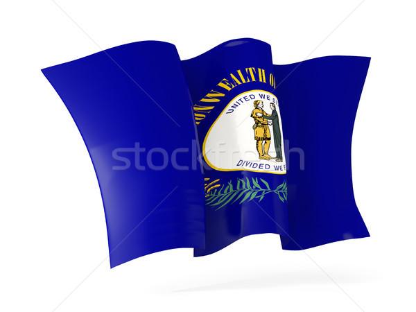 Kentucky vlag icon Verenigde Staten Stockfoto © MikhailMishchenko