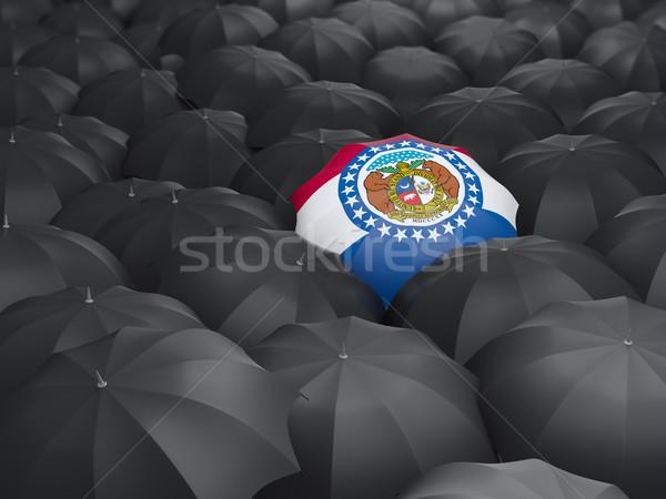 Missouri vlag paraplu Verenigde Staten lokaal vlaggen Stockfoto © MikhailMishchenko