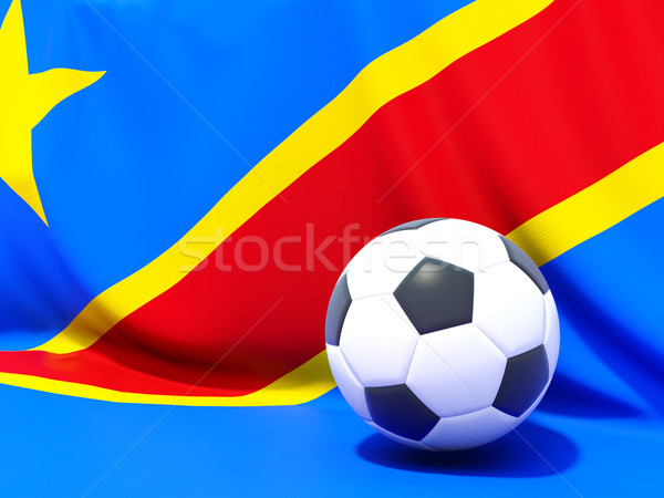 Flag of democratic republic of the congo with football in front  Stock photo © MikhailMishchenko