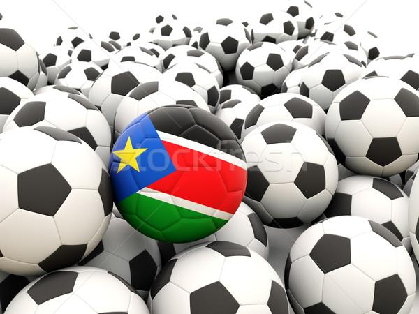 Futball zászló dél Szudán rendszeres golyók Stock fotó © MikhailMishchenko