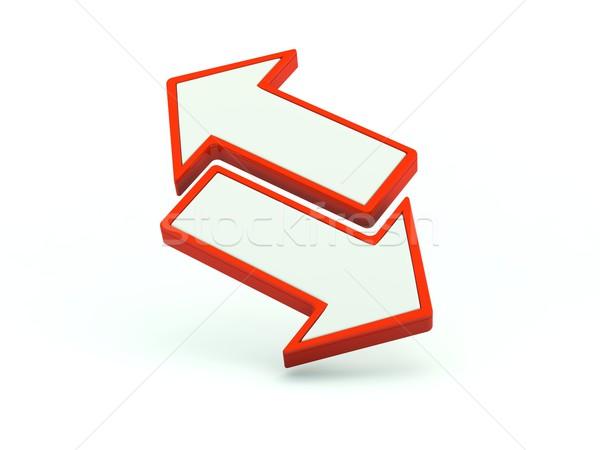 Zdjęcia stock: Wymiany · ikona · czerwony · Internetu · arrow · stronie