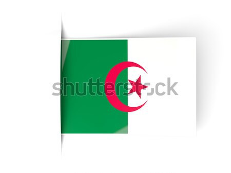 Icône Algérie isolé blanche mail Photo stock © MikhailMishchenko