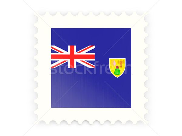 Postage stamp icon of turks and caicos islands Stock photo © MikhailMishchenko