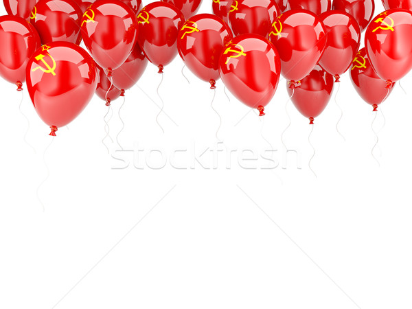 Balloon frame with flag of ussr Stock photo © MikhailMishchenko