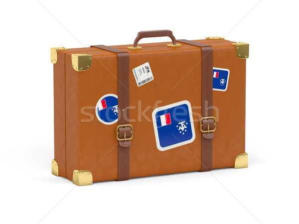 Suitcase with flag of french southern territories Stock photo © MikhailMishchenko