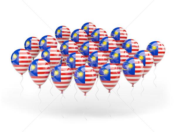 Léggömbök zászló Malajzia izolált fehér vidék Stock fotó © MikhailMishchenko