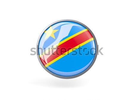 Ikon bayrak Kongo yalıtılmış beyaz seyahat Stok fotoğraf © MikhailMishchenko