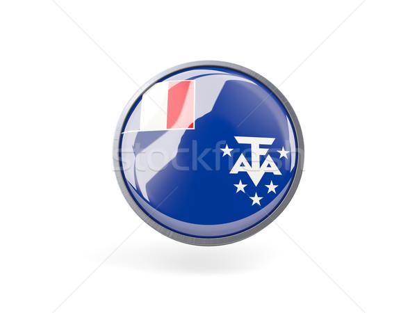 Icono bandera francés meridional metal marco Foto stock © MikhailMishchenko