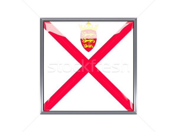 Square icon with flag of jersey Stock photo © MikhailMishchenko