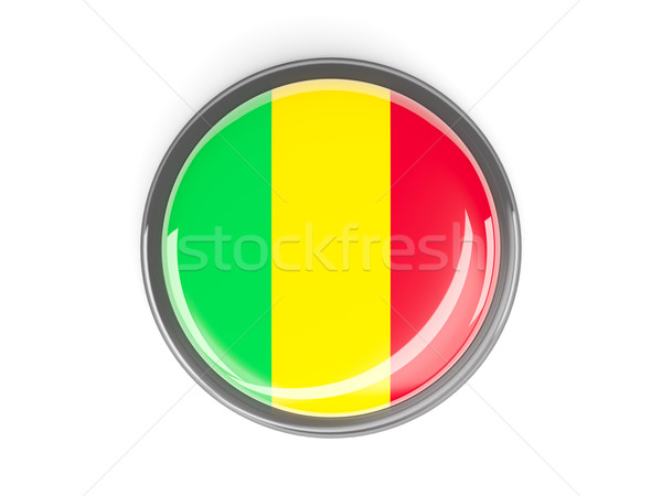 Round button with flag of mali Stock photo © MikhailMishchenko