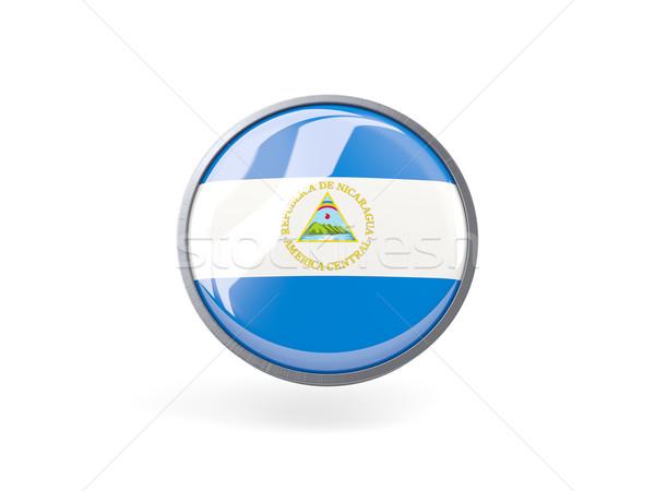 ícone bandeira Nicarágua metal quadro viajar Foto stock © MikhailMishchenko