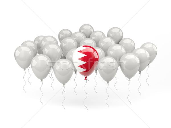 Ar balões bandeira Bahrein isolado branco Foto stock © MikhailMishchenko