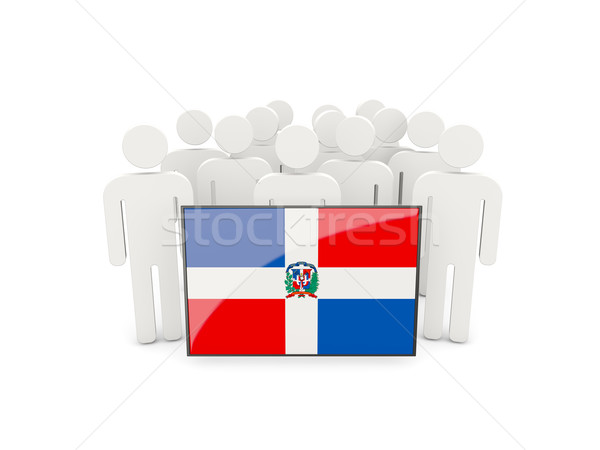 People with flag of dominican republic Stock photo © MikhailMishchenko