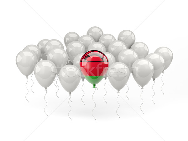 Air balloons with flag of malawi Stock photo © MikhailMishchenko